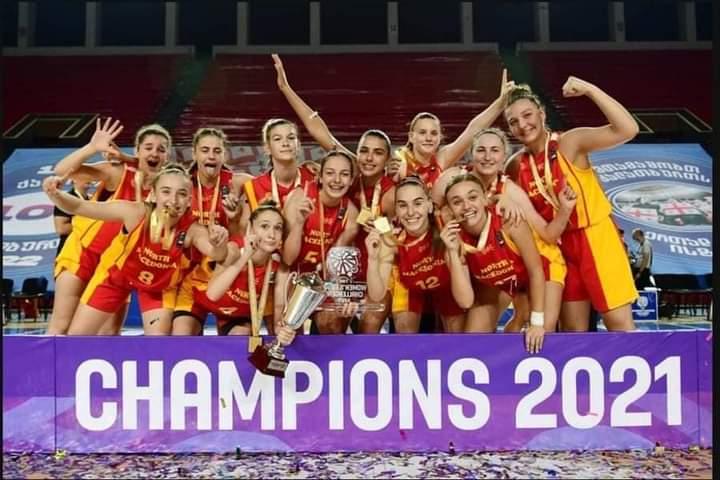 Успеси на Деа Хоџа, ученичка во МИГ и освоено I место како дел од кошаркарската репрезентацијата на С.Македонија за девојки под 16 години